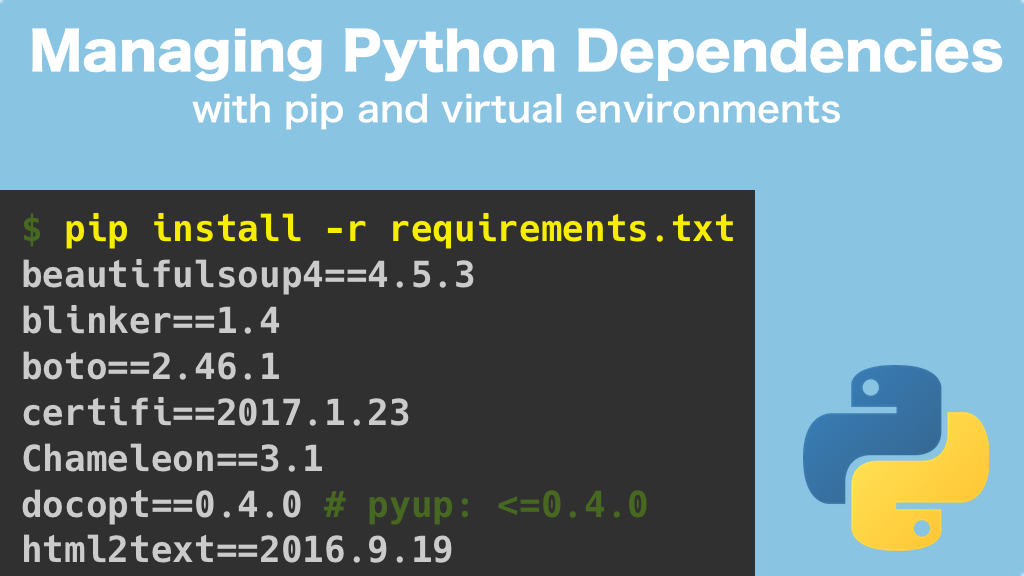 Transcripts for Managing Python Dependencies: Uninstalling Packages