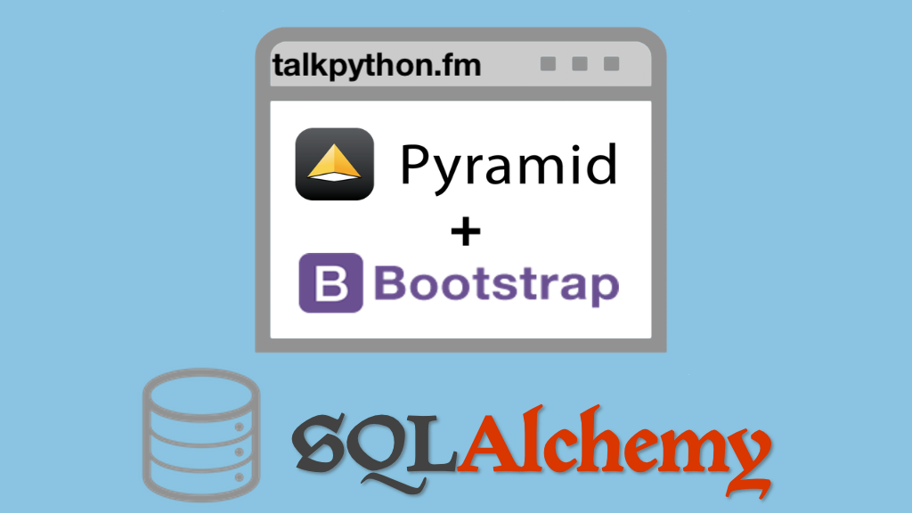 Transcripts for Building data-driven web apps with Pyramid
