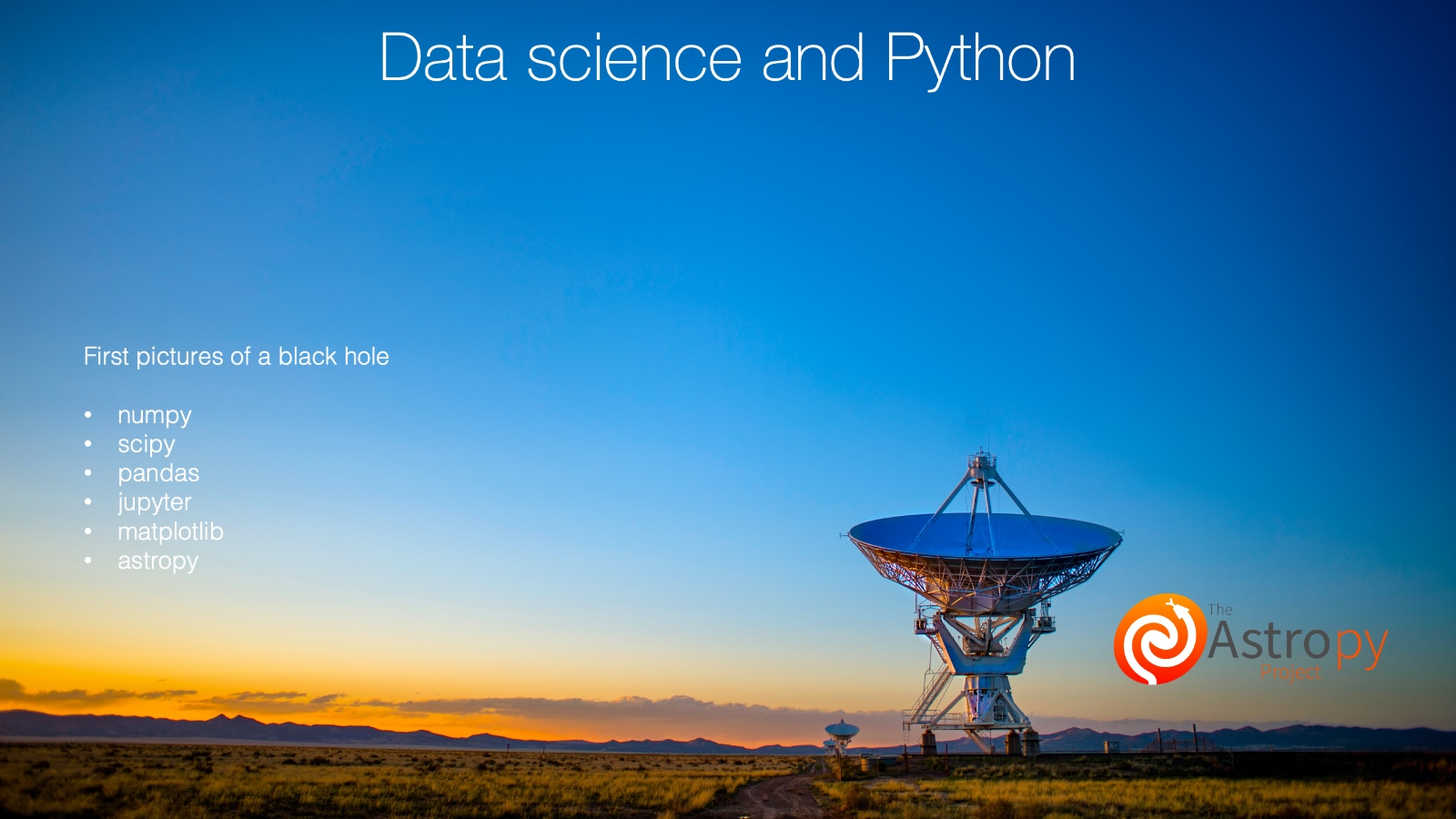 Image introducing Python's data science ecosystem